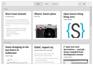 Designový návrh aplikace GNOME News