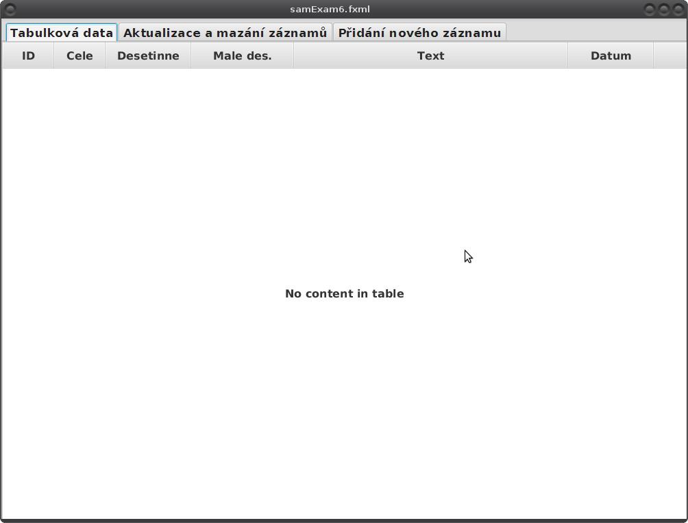 JavaFX: příprava pro ukázku Hibernate