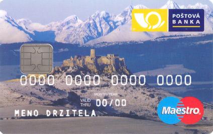 Poštová banka platební karty