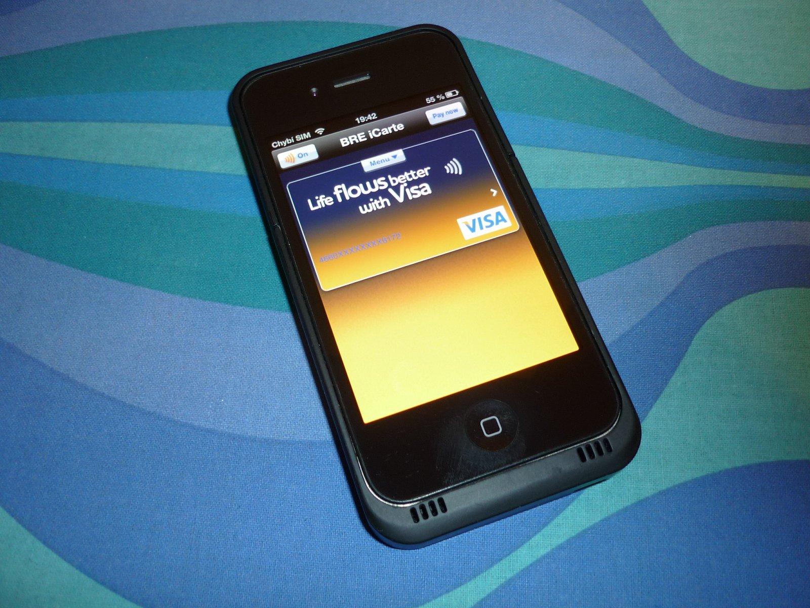 iPhone 4 + iCarte: Debetní karta Visa