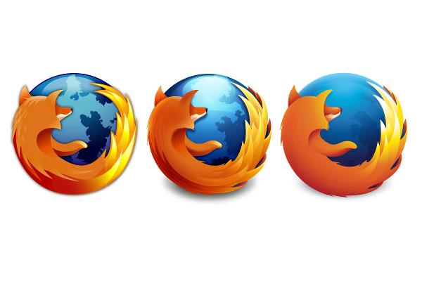 Firefox tři loga