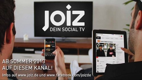 Zkušební obrazovka nového německého kanálu Joiz, který odstartuje v létě.