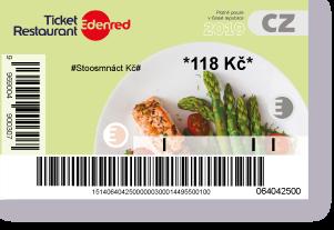 Papírová stravenka Ticket Restaurant platná do 31. prosince 2019.
