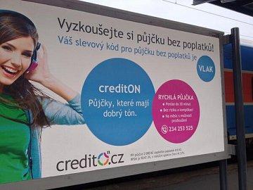 Příklad reklamy na půjčku bez poplatků.