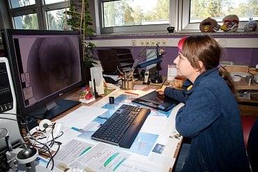 Grafička zpracovává oblak dat z laserového skeneru