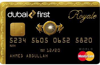 Platební karta Dubai First Royale card s diamantem.