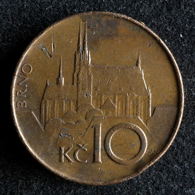 Poškozené a opotřebené mince