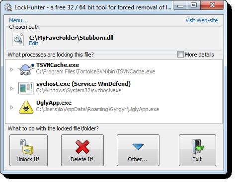 LockHunter vymaže uzamčené soubory
