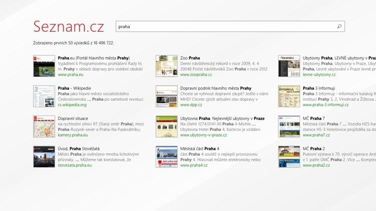 Seznam.cz Hledání je nepovedenou aplikací pro Windows 8