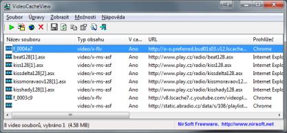 Pomocí VideoCacheView najdete snadno video v cache