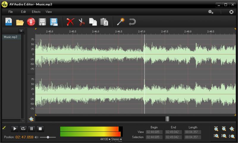 Pomocí AV Audio Editor si upravíte i ořeznete MP3