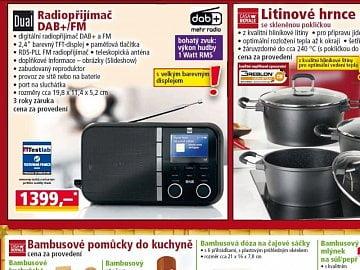 """""""Dual Radiopřijímač DAB+ FM"""" prodávaný v síti Norma."""