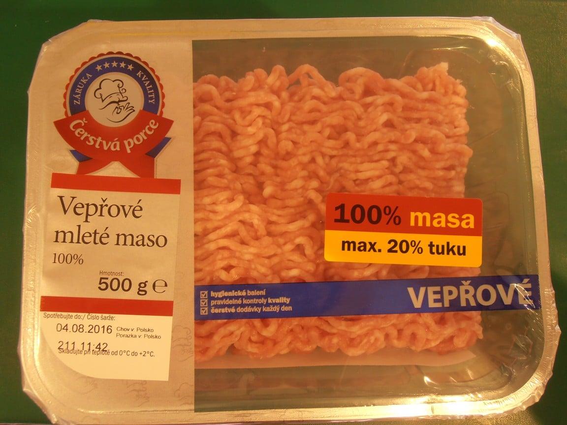 Vepřové maso z Lidlu se salmonelou