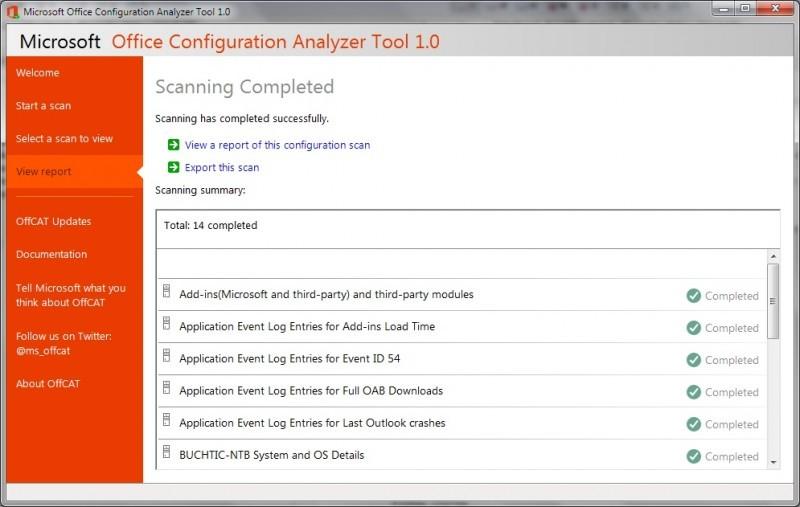 Pomocí Office Configuration Analyzer Tool odhalíte příčiny problémů s MS Office