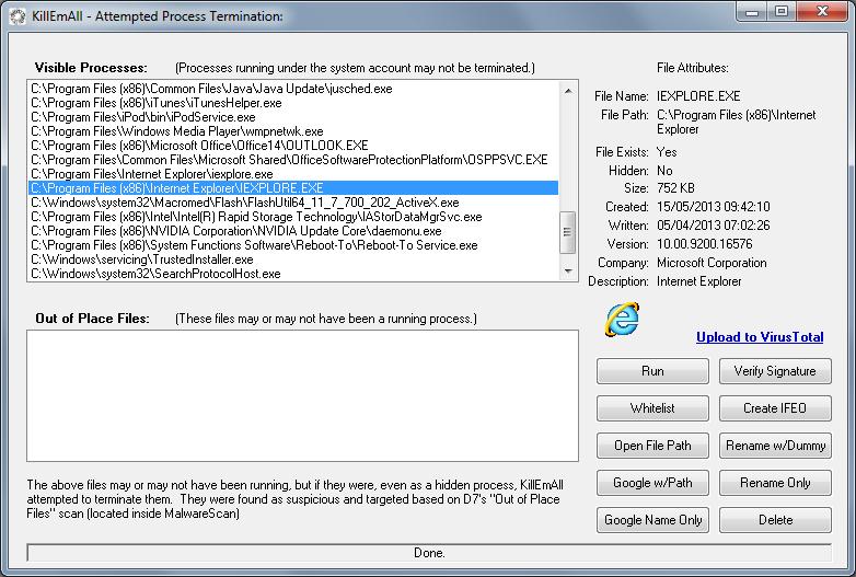 KillEmAll dokáže jedním kliknutím ukončit aplikace třetích stran