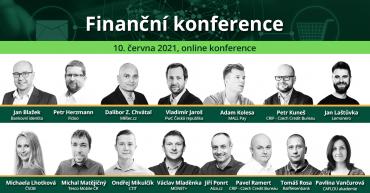 Řečníci na finanční konferenci serveru Měšec.cz ve čtvrtek 10. června 2021.