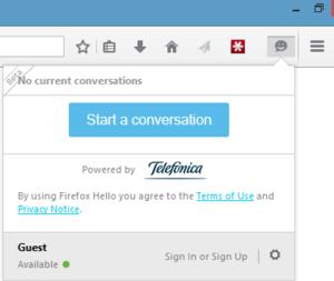 Mozilla testuje možnost integrace tlačítka pro chatování přes webRTC do svého internetového prohlížeče Firefox