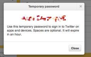 """Pokud používáte ve Twitteru dvoufázové ověřování, pak Twitter vyžaduje při přihlašování pomocí klienta třetí strany zadání """"dočasného hesla"""
