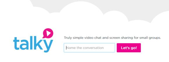 Mezi několik webů, které v současnosti podporují chatování přes webRTC, patří i web talky.io