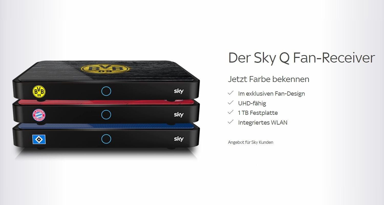 Fan receivery a další přístroje německé Sky