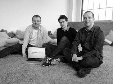 Tvůrci Tabfoundry. Zleva Láďa Hrbáček, Michal Kvasnička, Petr Messner