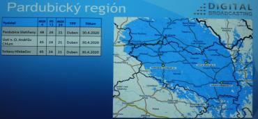 Vypnutí DVB-T vysílačů Digital Broadcasting v okolí Pardubic.
