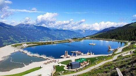 Rosenalmbahn, Zillertal, Rakousko. (Xiaomi Mi 8)