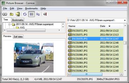 Cornice je trochu netradiční prohlížeč obrázků, který lze ovládat klávesovými zkratkami