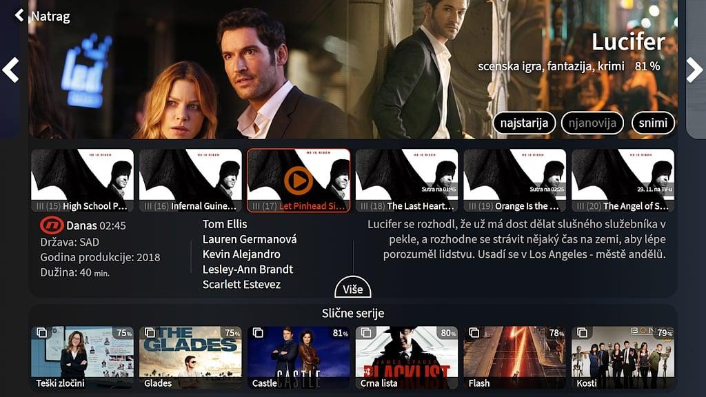 Chorvatská verze služby goNET TV