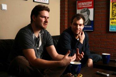 Jan Korbel (vlevo), Lukáš Konarovský