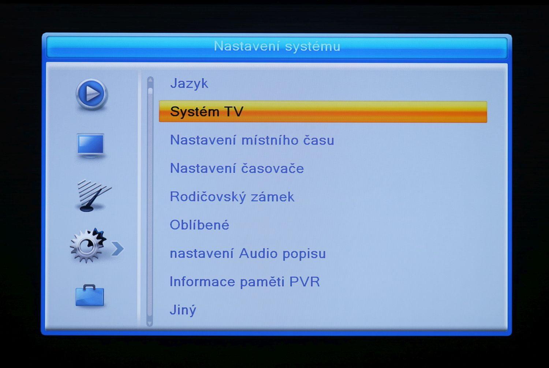Fuba ODE8510 T2 Stealth - menu