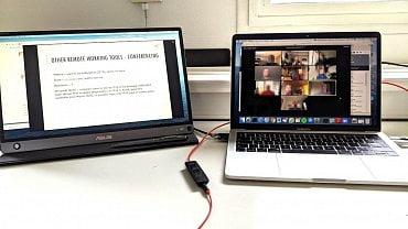 Dvojice monitorů se uplatní zejména při videokonferencích