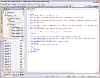 LopeEdit je pokoričlý textový editor, kterému nechybí zvýrazňování syntaxe