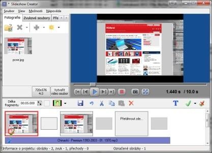 Bolide Slideshow Creator vytvoří prezentace a exportuje do videa