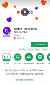 Seznamovací aplikace Badoo: prezentována jako bezplatná seznamka.