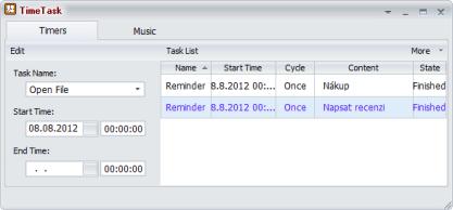 Pomocí TimeTask si poznamenejte důležité úkoly