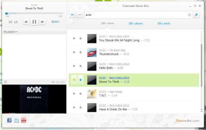 Pomocí Freemake Music Box si poslechnete online hudbu zdarma