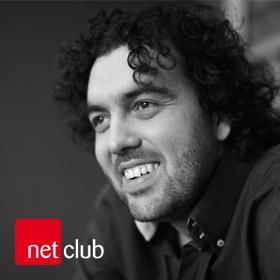 Logo NetClub s Petrem Márou