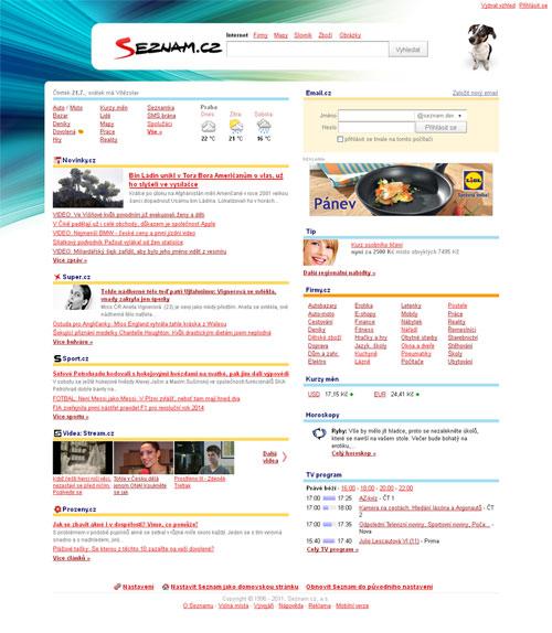 Oficiální verze toho, jak má titulní stránka Seznamu od srpna 2011 vypadat.