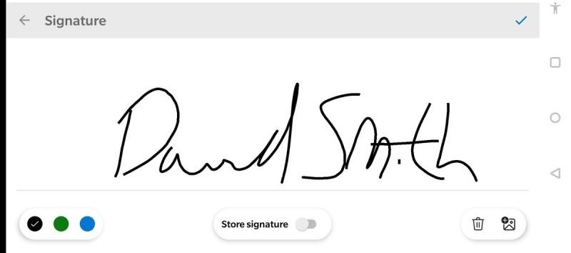 Nástroj Podepsat PDF vám dá dostatek prostoru pro přiložení vašeho podpisu. Podpis si navíc můžete i uložit.