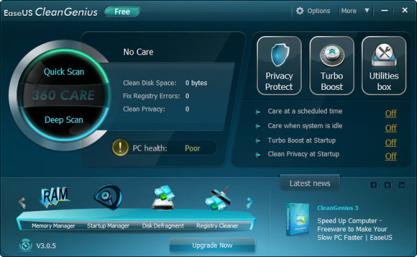 EaseUS CleanGenius vám pomůže zvýšit výkon systému