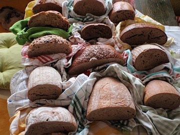 Zahájení testu: polovina chlebů putovala do utěrek, druhá do mikrotenových pytlíků.