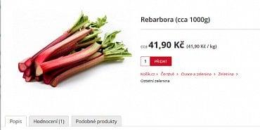Na Kosik.cz koupíte rebarboru i v říjnu
