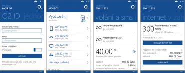 Aplikace Moje O2 pro Windows Phone