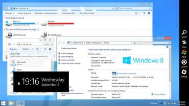 Přeměňte vzhled systému na Windows 8
