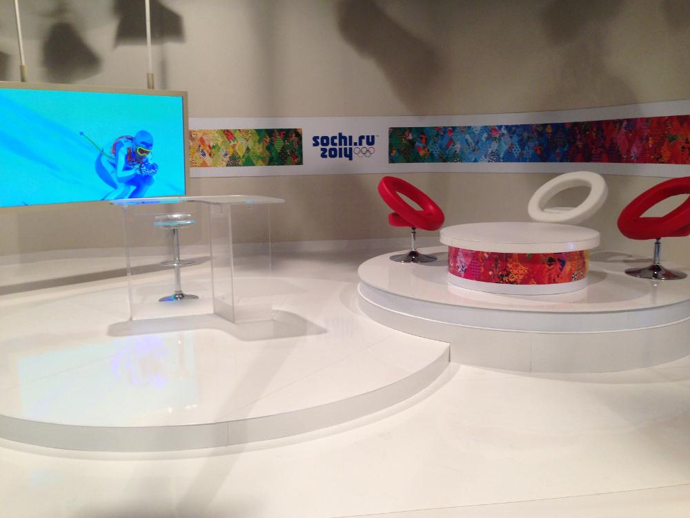 Slovenská televize představila olympijské studio pro ZOH 2014