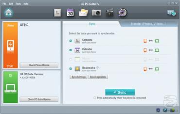 S aplikací LG PC Suite snadno zazálohujete data ze svého telefonu