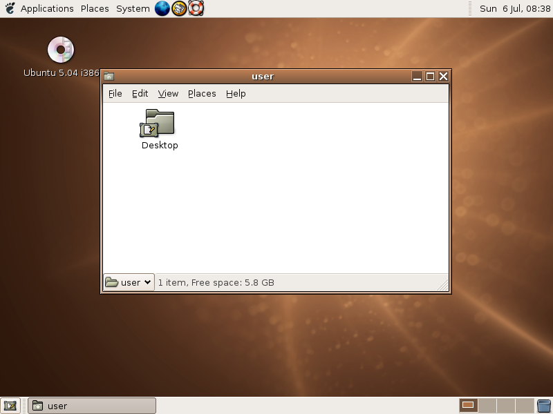 Ubuntu 5.04 (Hoary Hedgehog)
