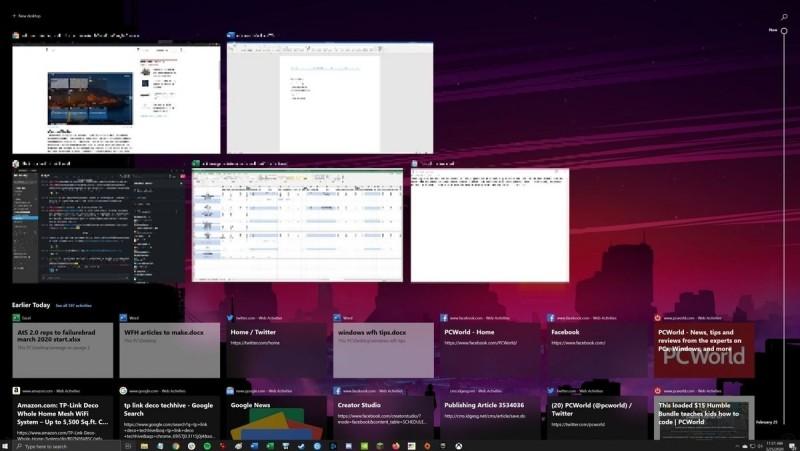 Funkce Časová osa vám ve Windows 10 zobrazí, na čem jste naposledy pracovali – jedním klepnutím myši se tak můžete vrátit tam, kde jste předtím skončili.