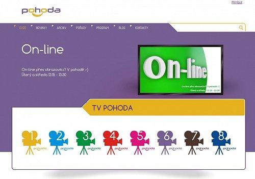 Webové stránky televize Pohoda